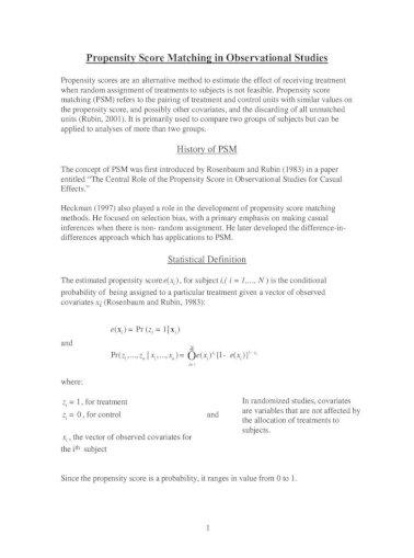 Score sas propensity matching in Using Propensity
