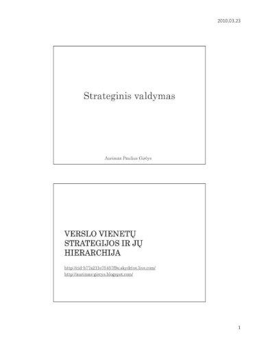 diversifikavimo strategijos strateginis valdymas