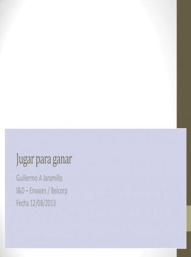 Playing To Win Jugar Para Ganar Pdf Document