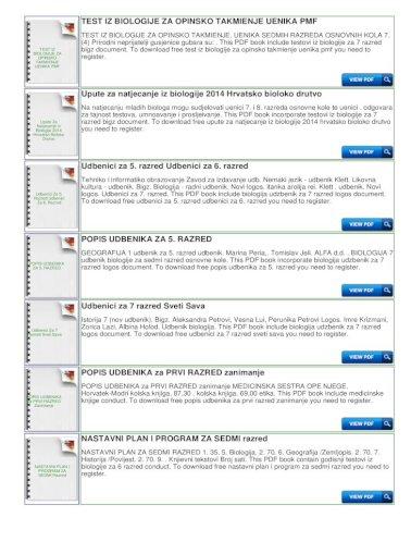 Testovi Iz Biologije Za 7 Razred Bigz To Download Free Test Iz Biologije Za Opinsko Takmienje Uenika Pmf You Need To This Pdf Book Include Godisnji Testovi Iz Biologije Za 6 Pdf Document