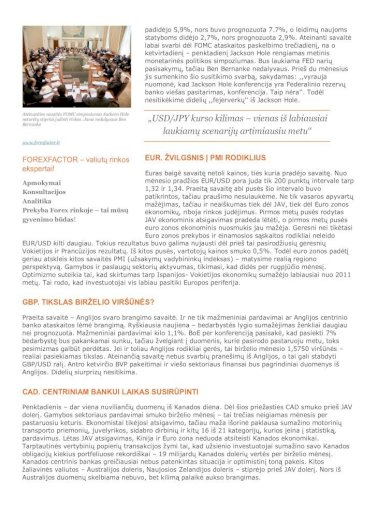 Savaitinė rinkos apžvalga - Forex Faktorius