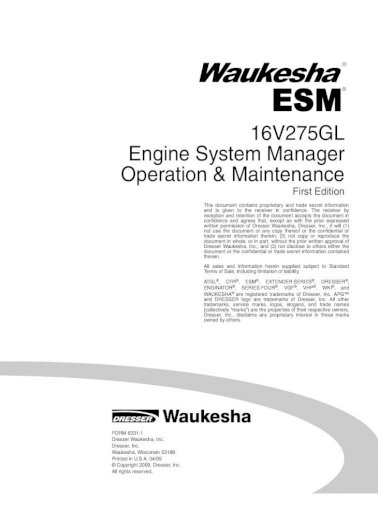 Tractors Patio, Lawn & Garden Waukesha 6BK Engine Service Manual ...