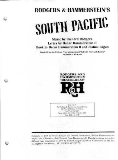 South Pacific Libretto Pdf Document