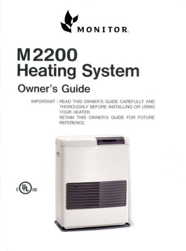 Monitor 2200 Owner S Manual Pdf Document