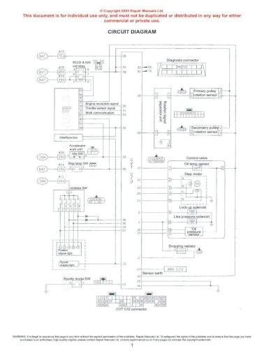Nissan Cvt Wiring Diagram Pdf Doent