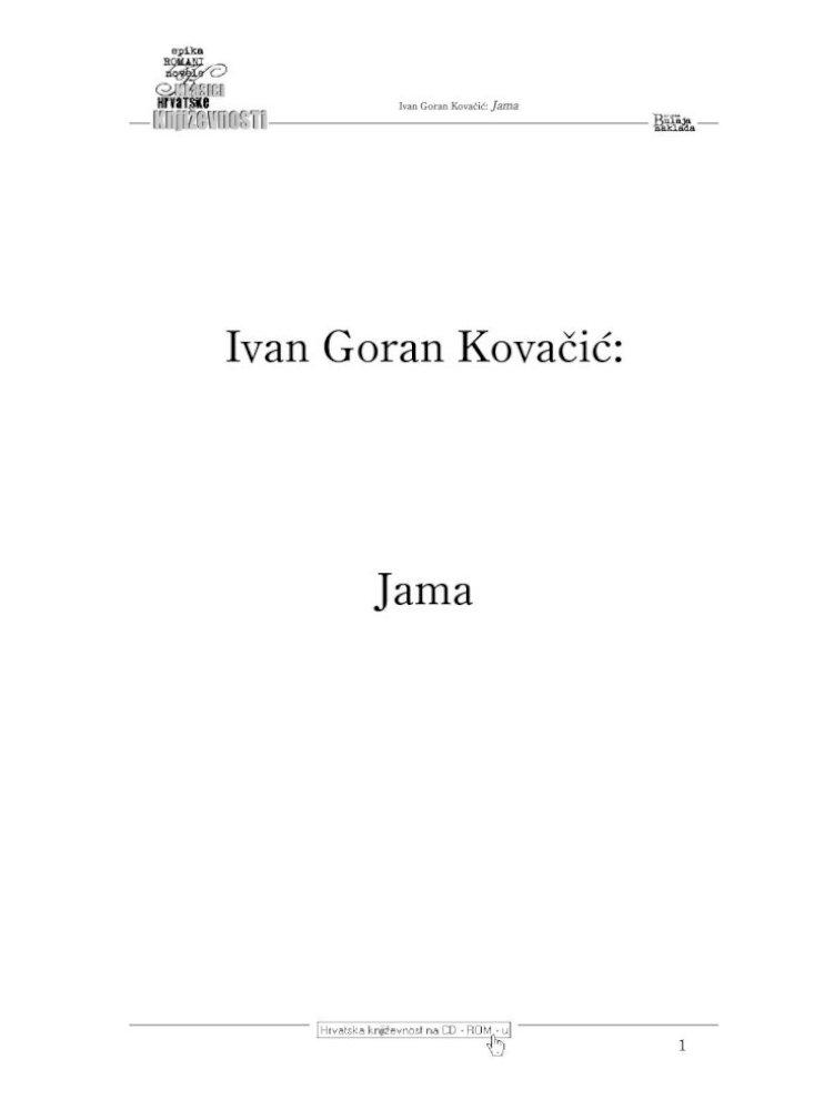 Ivan Goran Kovacic Jama Pdf Document