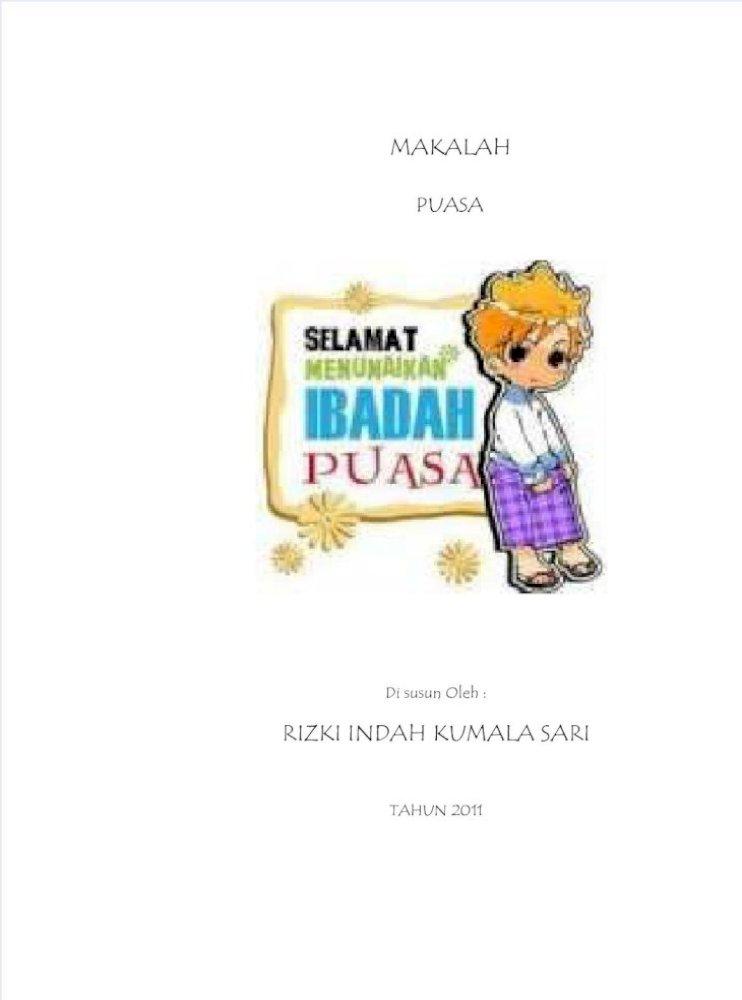 Makalah Puasa Ramadhan Pdf Document