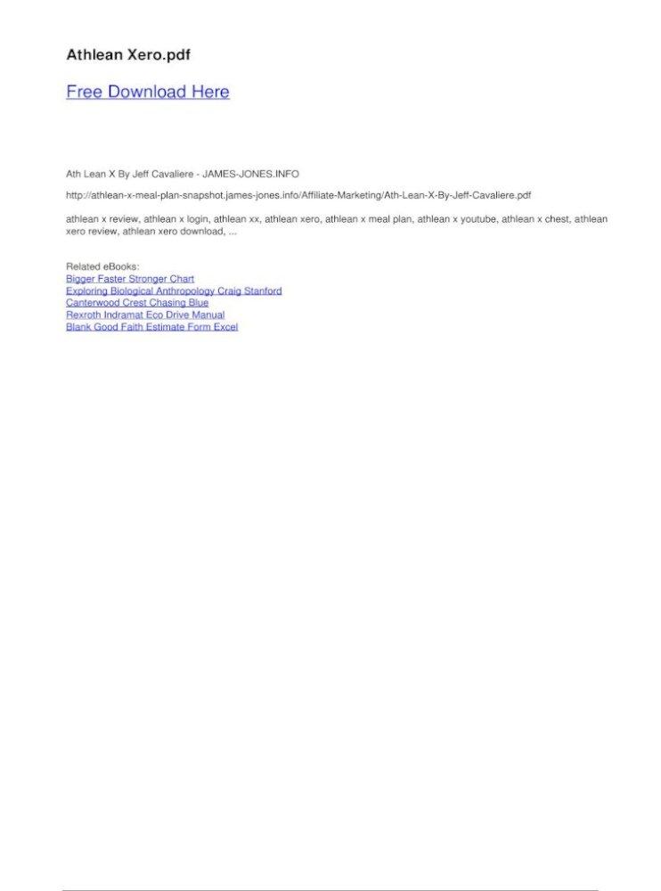 Athlean Xero - x review, athlean x