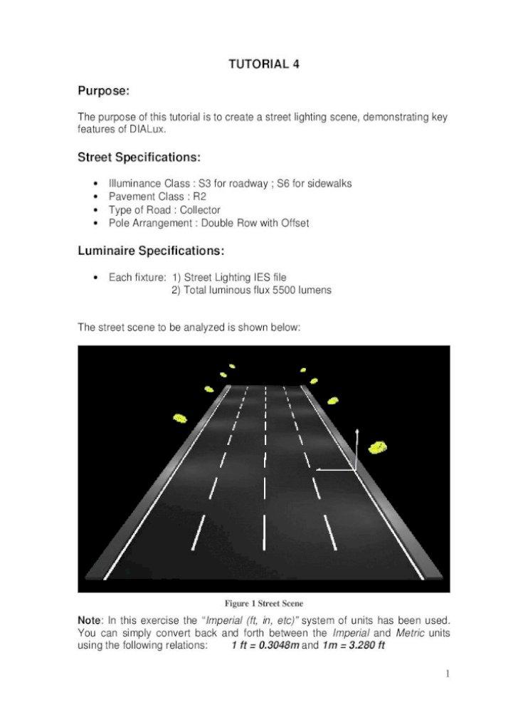 Street Lighting Design PDF Document